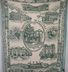 Photo of Martinez Historical Society throw