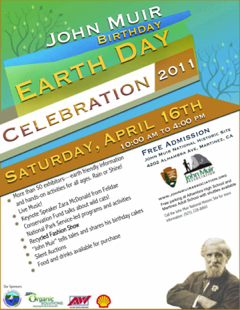 John Muir Birthday - Earth Day flyer and link
